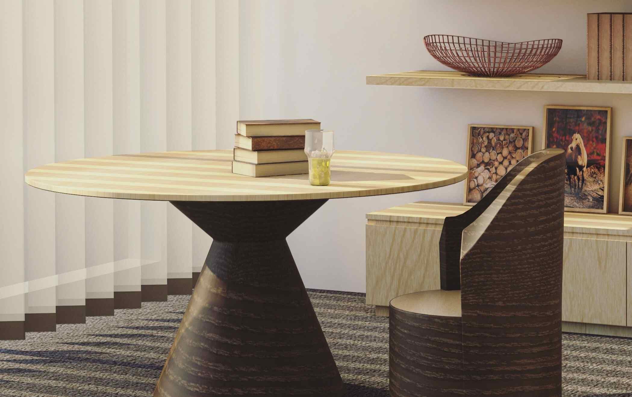 Stilvoller Tisch mit Sessel